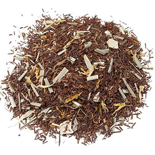 Aromas de Te - Te Infusion Rooibos Caribe Eco - Con Limonaria, Trozos de Mango y Fresa Liofilizados, Calendula y Aroma Natural - De Cultivo Ecologico -100 gr.