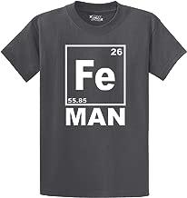 Comical Shirt Men's Fe Man Funny T Shirt Iron Man Chemistry Periodic T-Shirt
