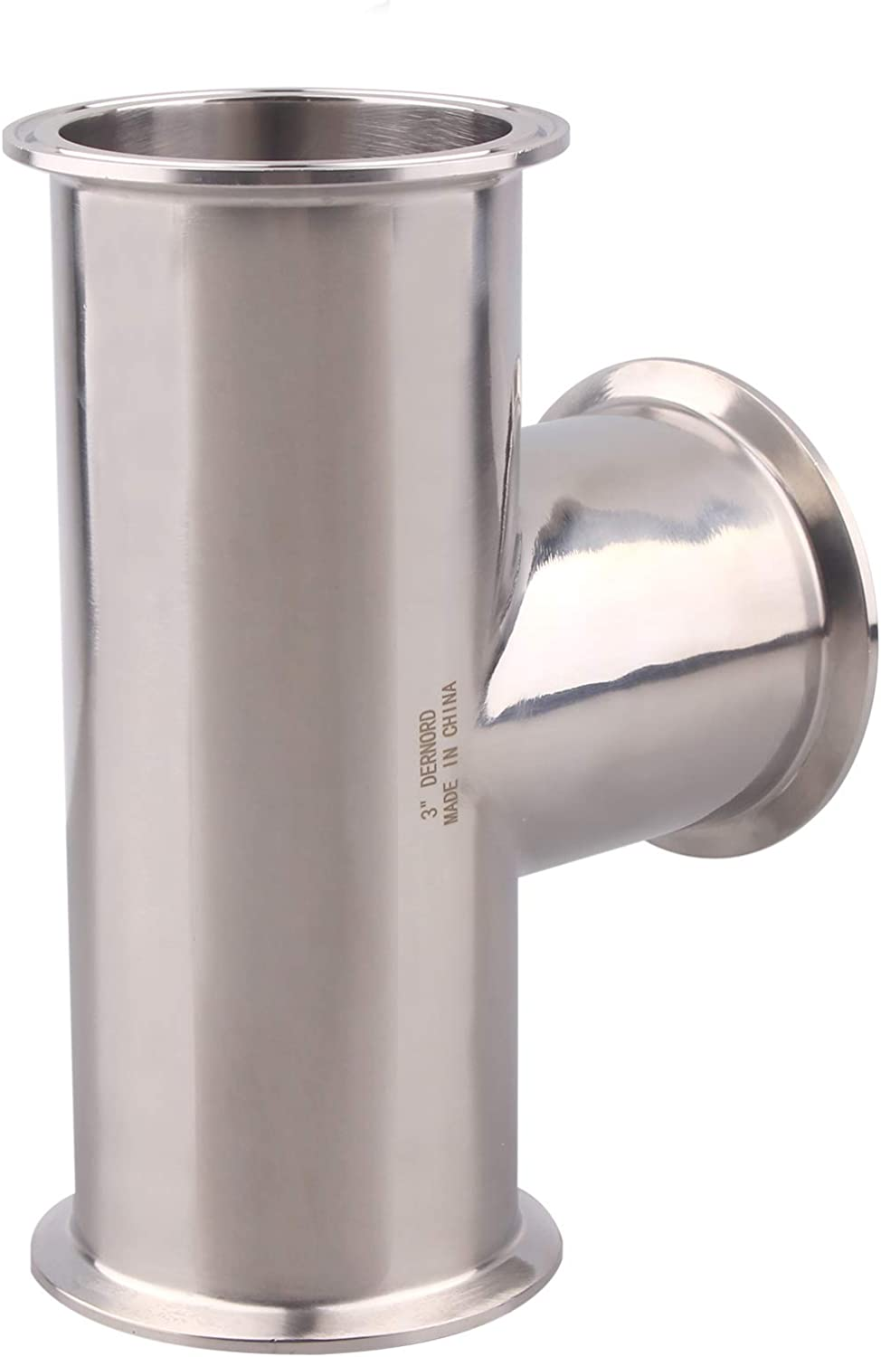 DERNORD Clamp Tee Year-end gift 3 Way Stainless 304 Fit Steel Sanitary Washington Mall Fitting