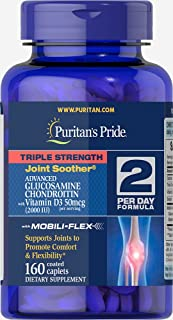 Puritan's Pride Triple Strength Glucosamine Chondroitin with Vitamin D3-160 Caplets