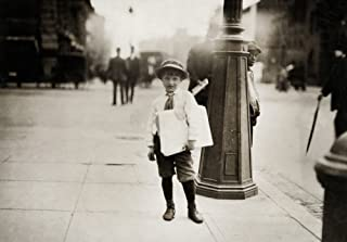 Hine Newsboys 1912 Na Six-Year-Old Newsboy Selling Paper In Washington DC After Going To School In The Morning Photograph ...