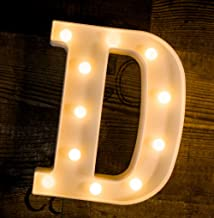 Foaky LED Letter Lights Sign Light Up Letters Sign for Night Light Wedding/Birthday Party Battery Powered Christmas Lamp H...