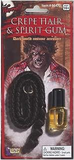 Crepe Werewolf Hair & Spirit Gum Set