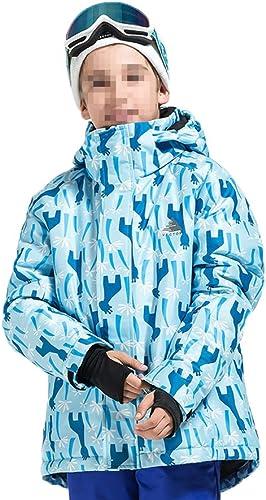 Hzjundasi Hiver De Plein air des Sports Imperméable Mécravater Ski Veste Couleur Neige Manteau Chaud pour Enfants