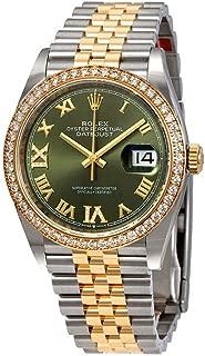 Rolex Green Diamond Dial Automatic Ladies Steel and 18K Yellow Gold Jubilee Watch 126283GNRDJ