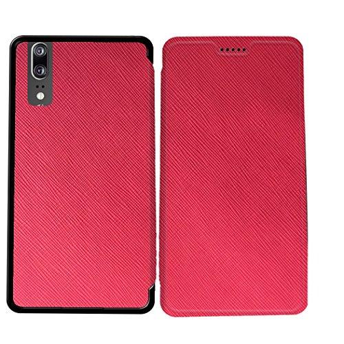 Case-Industry Mobilefashion Custodia Protettiva Case Cover per Huawei P20 - Esterno modello Rose Bonbon Collection Exception Cuoio PU