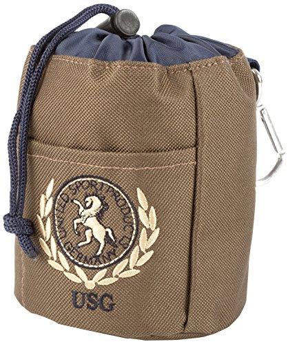 USG Leckerli Beutel, braun/marine, mit USG-Stickerei