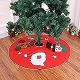 Louis Donne - Gonna grande per albero di Natale, 150 cm, ricamata, con pupazzo di neve, Babbo Natale, cervi, mart per interni ed esterni