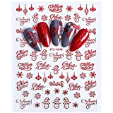 MEIYY Pegatina De Uñas Nail Art Stickers Transfers Xmas Merry Christmas Santa Claus Collection Decor Red Snow Balloon Naklejki Na Paznokcie Nail Decals