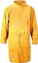 LOVIVER Casaco de soldagem de couro de couro de segurança Avental de proteção Vestuário Jaqueta de solda Fato de solda Ave...