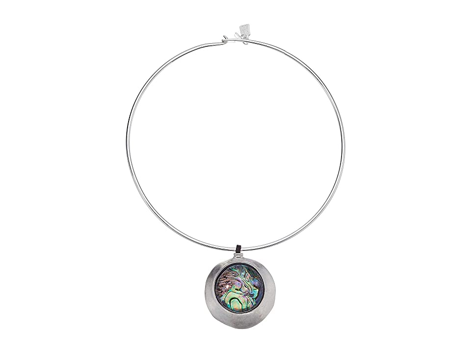 Robert Lee Morris - Robert Lee Morris Abalone Disc Round Wire Necklace