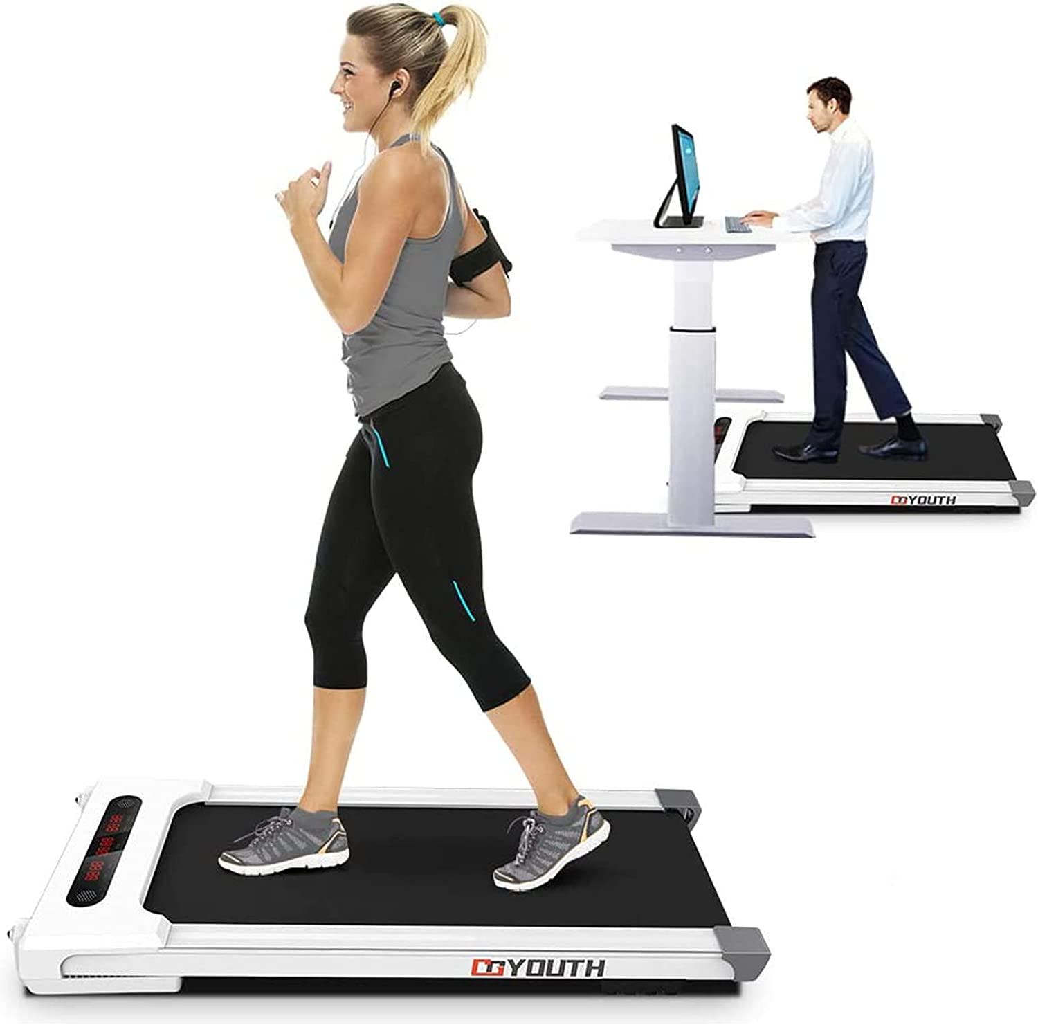Goyouth 2 in 1 sale Under Desk Motorized latest Exercise Treadmill Electric