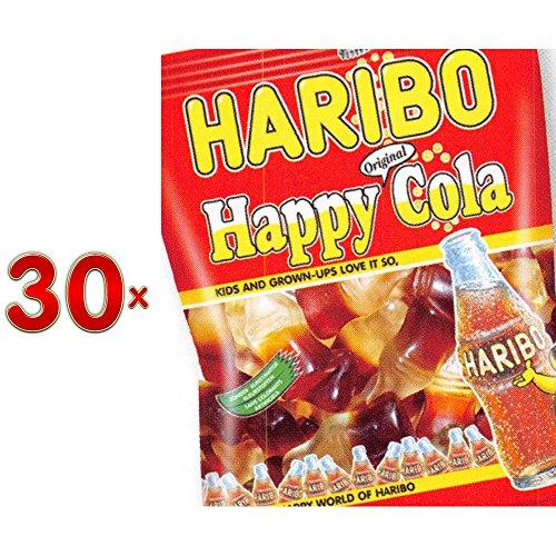 Haribo Happy Cola Sachet 30 x 75g Packung (Colafläschchen)