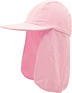 6a0a9b21 Happy Cherry Kid Flap Hat with Rope Cartoon UPF 50 Sun Protection Neck  Cover Cap