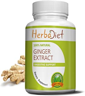 Ginger Root 400mg Extract Capsules| 5% Gingerols | Antioxidant, Metabolism Booster, Immune System, Digestive Support, Anti...