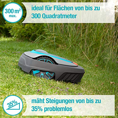 GARDENA smart SILENO city Set 300: Mähroboter bis 300 m² Rasenfläche steuerbar per App - 2