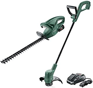 Bosch 2 Piece 18V Garden Kit: EasyGrassCut 18, EasyHedgeCut 18 with 1 x 2.5Ah Battery and Fast Charger