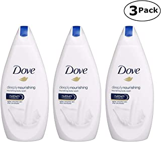 Dove Deeply Nourishing Body Wash, 16.9 Fluid Ounce / 500 ml (Pack of 3)