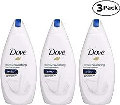 Dove Deeply Nourishing Body Wash, 16.9 Fluid Ounce / 500 ml (Pack of 3) International Version