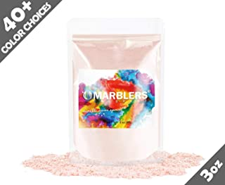 Marblers Powder Colorant 3oz (85g) [Peach] | Pearlescent Pigment | Tint | Pure Mica Powder for Resin | Dye | Non-Toxic | Great for Paint, Concrete, Epoxy, Soap, Nail Polish, Cosmetics