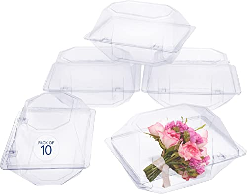 popular 10 Pack Clear Plastic Flower outlet sale Box for new arrival Corsage, Boutonniere, Rose, Orchid Prom Wedding Craft Container 6x5x4 online sale