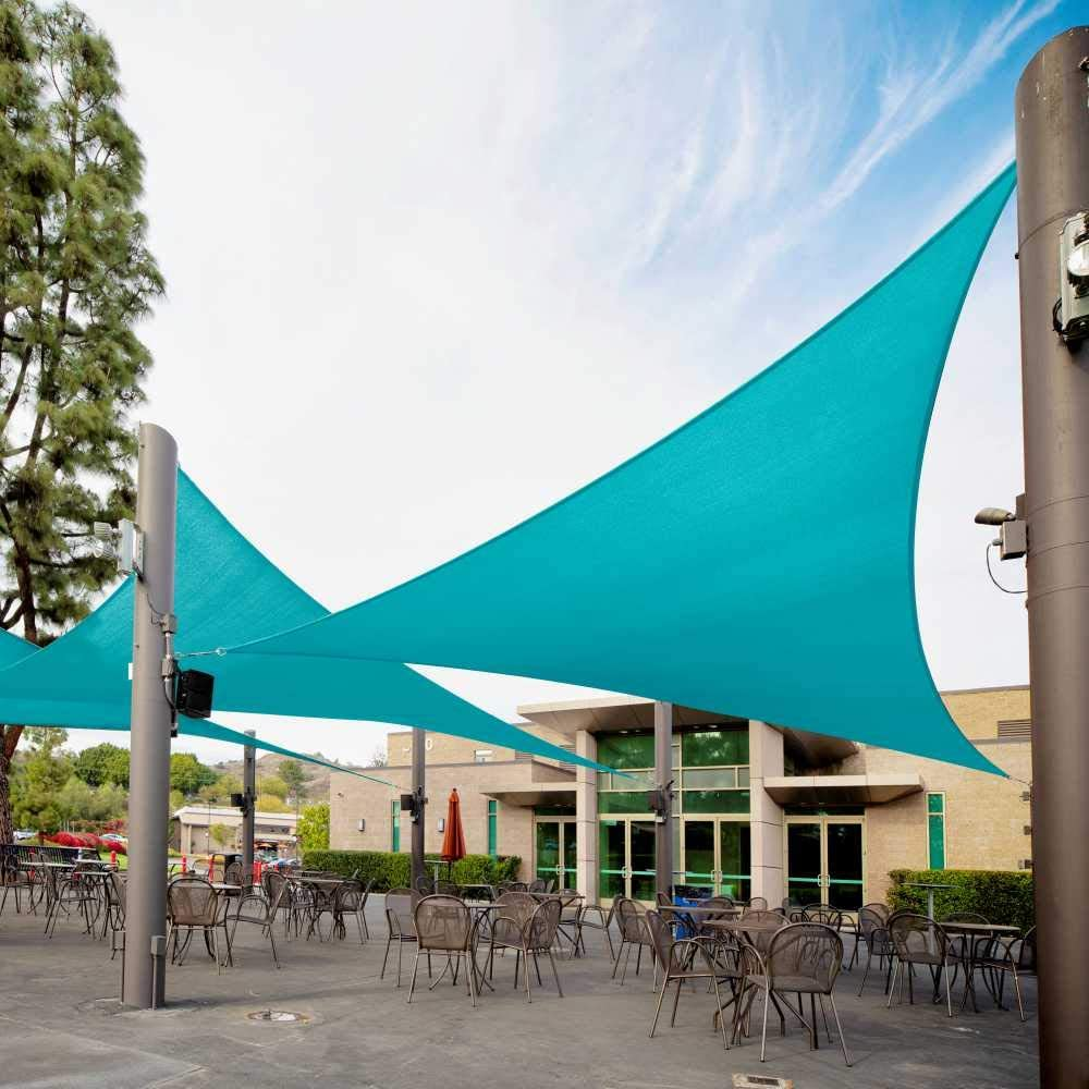 Royal Shade18' x Super sale 18' New Shipping Free 25.5' Turquoise Triangle Shade R Sun Sail