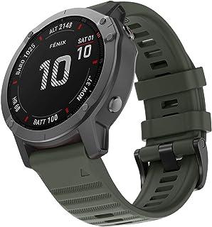 Tomepeia 26mm Silicone Watch Band Replacement Watch Strap for Garmin Fenix 6X/Garmin Fenix 6X Pro