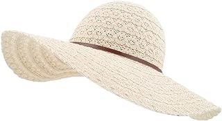 LETHMIK Womens Summer Lace Sun Hat Floppy Wide Brim Beach Cotton Bucket Hat