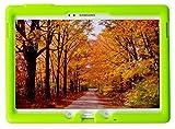 Bobj Rugged Case for Samsung Galaxy Tab S 10.5 Tablet Models SM-T800, SM-T805, SM-T807 - BobjGear Custom Fit - Patented Venting - Sound Amplification - BobjBounces Kid Friendly (Gotcha Green)