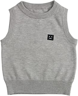 Wennikids Baby Boys Kids O-Neck Pullover Sweater Vest