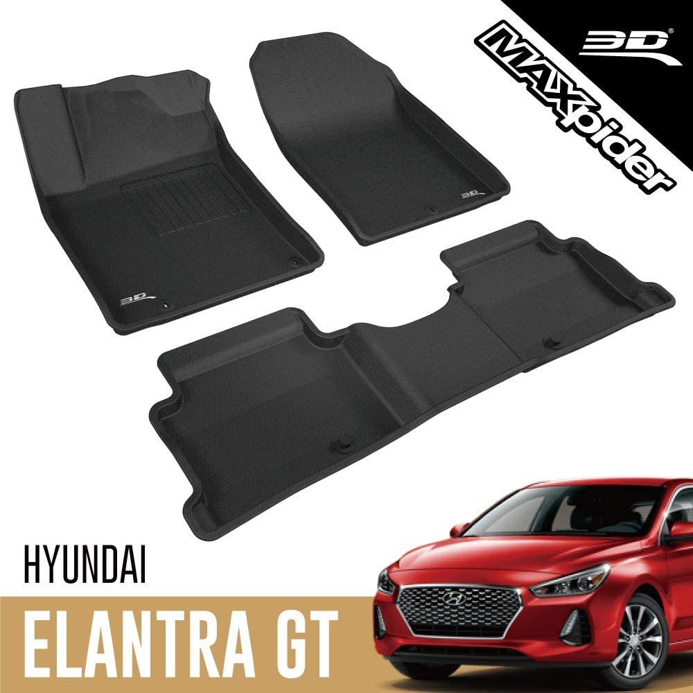 3D MAXpider All-Weather Floor Mats Quality inspection for Elantra Ranking TOP16 Hyundai 2 GT 2018