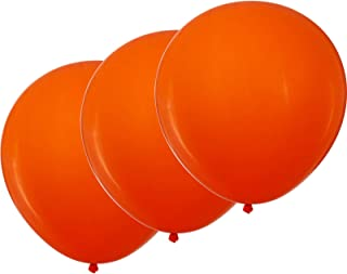 ZOOYOO 18 inch Orange Balloons Quality Latex Balloons Party Decorations Supplies Pack of 12