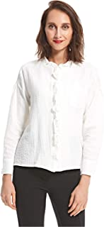 GHOSPEL Shirts For Women, IVORY, M