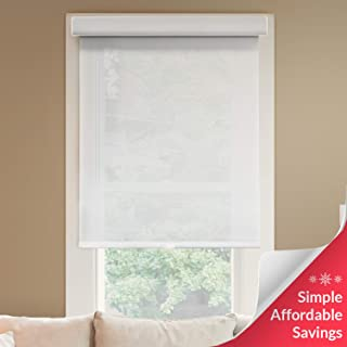 Chicology Deluxe Free-Stop Cordless Roller Shades, No Tug Privacy Window Blind, Magnolia (Light Filtering), 31