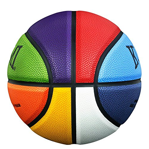 Review Kuangmi Colorful Street Basketball for Women Girls Youths Intermediate Size 6(28.5)
