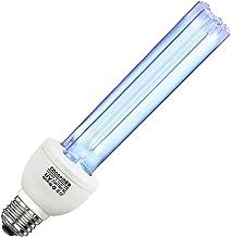 Coospider UV Germicidal Lamp UVC with Ozone Disinfection Bulb 220V 25W E27 Screw Socket Ultraviolet Sterilizer Light for K...