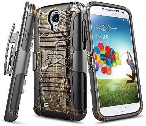 NZND Belt Clip Holster Case for Samsung Galaxy S4 with Tempered Glass Screen Protector Heavy product image
