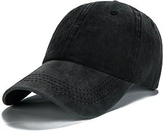 26724ec7 Edoneery Men Women Plain Cotton Adjustable Washed Twill Low Profile Baseball  Cap Hat(A1008)