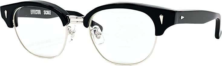 EFFECTOR サングラス 伊達眼鏡 メガネ SCALE-BK 【日本製】 ブラック メンズ レディース ファッション おしゃれ シンプル めがね工房ハトヤ オリジナルメガネ拭き付【正規品】