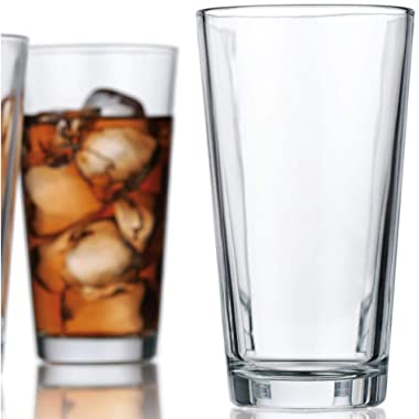 Attractive Highball Glasses Clear Heavy Base Tall Beer Glasses [Set Of 10] Drinking Glasses for Water, Juice, Beer, Wine, and Cocktails 17 Ounces