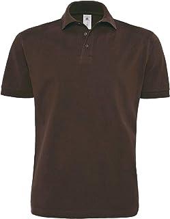 B&C Mens Heavymill Short Sleeve Cotton Polo Shirt