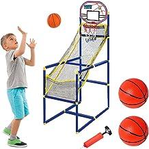 xiaowang Arcade Basketbalgameset met basketbalhoepel en luchtpomp, mini-basketbal, sportgameset, voor binnen buiten, thui...