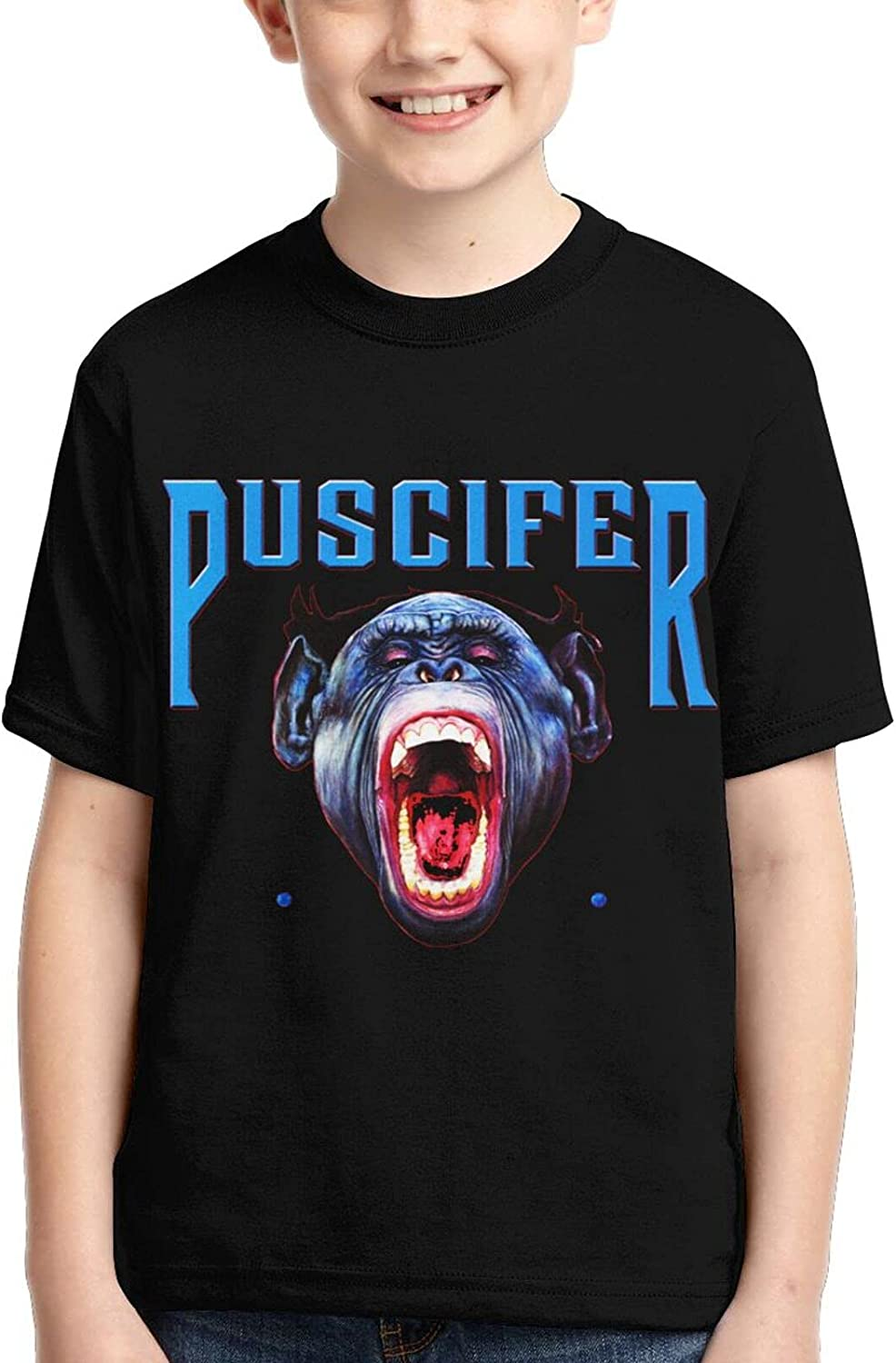 Puscifer Simple Free shipping on posting reviews and High quality new Practical Boys Sleeve Print Short Round Neck