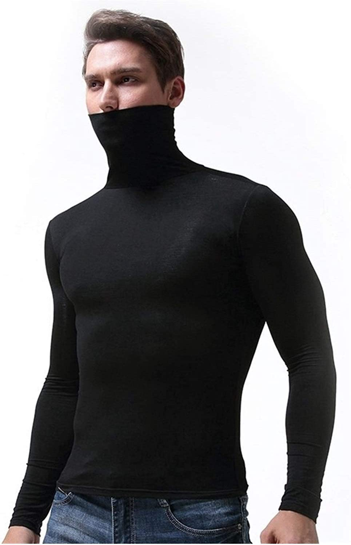 QWERBAM Men Winter Underwear Men Thermo Underwear Winter Thermal Underwear Male Winter Warm Shirt (Color : Black, Size : Medium)