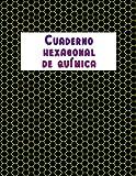 Cuaderno hexagonal de química: 110 páginas con hexágonos de 5 mm para dibujar moléculas y cadenas de carbono, para estudiantes de química orgánica (21,6 x 27,9cm)