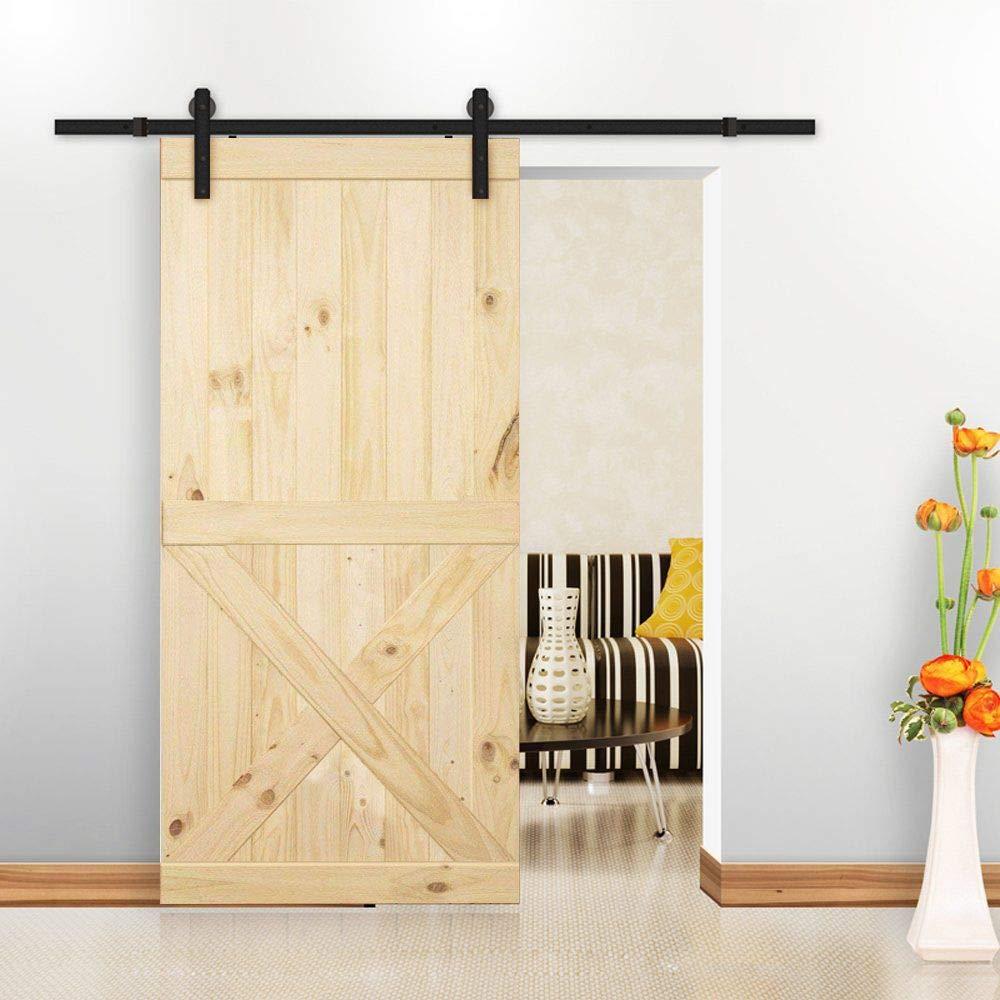 Homacer - Panel de madera de pino natural para puerta corredera ...