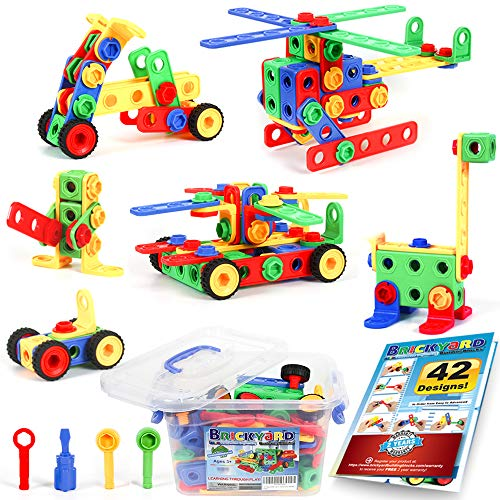 Product Image of the 101 Piece STEM Toys Kit, Educational Construction Engineering Building Blocks...