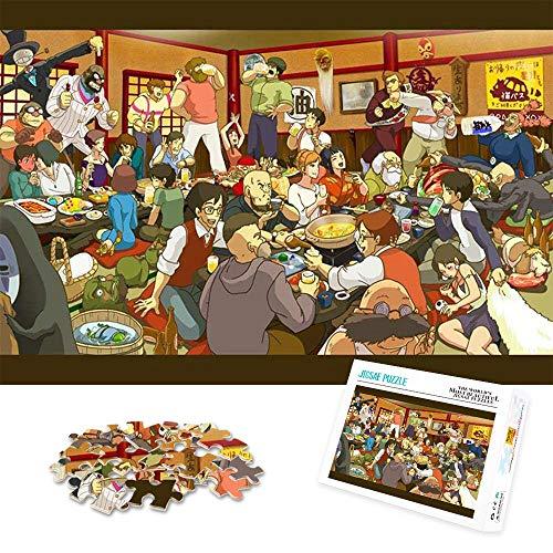 Rompecabezas de 1000 Piezas para niños Adultos Póster Personaje de Anime Totoro Gran Rompecabezas Intelectual Educativo Casa de Juegos para niños desafiante 75x50cm