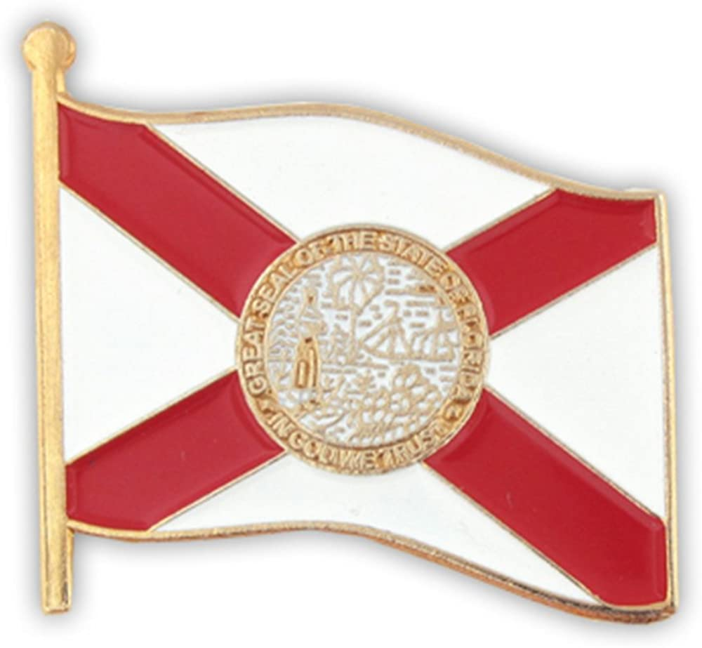 PinMart Florida US State OFFicial Flag Enamel Pin Tucson Mall Lapel FL
