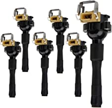 Set of 6 Ignition Coil Pack for 95-03 BMW 323i 325i 328i 528i 530i 540i 740i 750i M3 M5 Z3 Z8 X5 Range Rover III ROVER 45 UF300 UF354 1748017 12139067830,12 Months Warranty